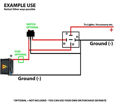 Wiring Diagram For A Spdt Relay : Genssi amp relay and wire harness spdt v a pack
