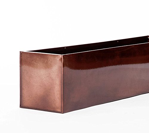 54in. Oil-rubbed Bronze Metal Window Box Liners by Windowbox