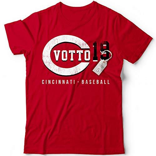 Votto No. 19 Reds Baseball Pitcher Players Field Home Run Champions Jersey Customized Handmade T-Shirt Hoodie/Long Sleeve/Tank Top/Sweatshirt
