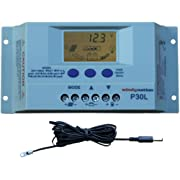 Windy-Nation-100-Watt-Solar-Panel-Complete-Off-Grid-RV-Boat-Kit-with-LCD-PWM-Charge-Controller-Solar-Cable-MC4-Connectors-Mounting-Brackets