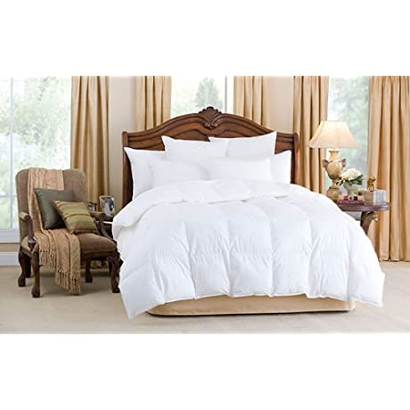 Downright Nirvana Collection All Year Weight White Goose Down Oversized King Comforter
