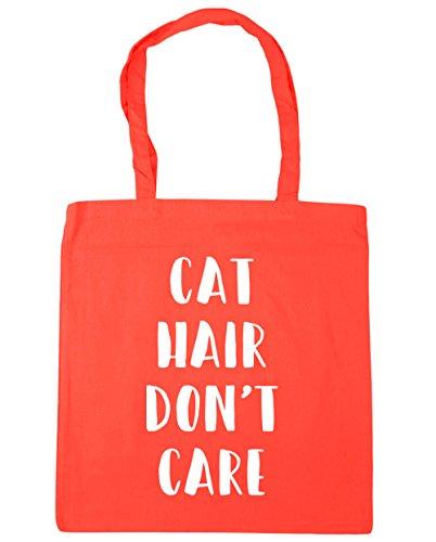 HippoWarehouse Don 't de pelo de gato de cuidado Tote Compras Bolsa de playa 42cm x38cm, 10litros Coral