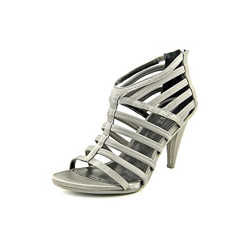 Kenneth Cole Reaction Know One, Knoechel Riemen Sandalen Frauen, Offener Zeh, leger Pewter