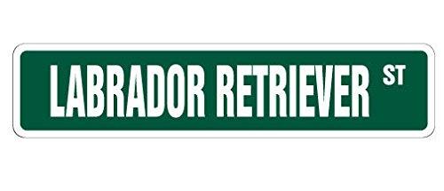 (Cortan360 LABRADOR RETRIEVER Street Sign dog lover lab hunting duck| Indoor/Outdoor | 8