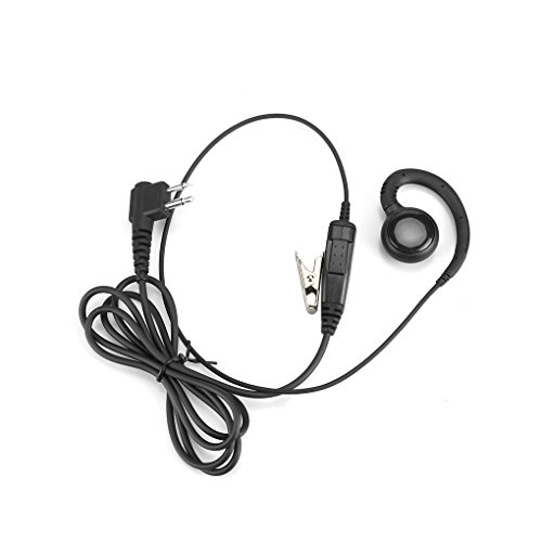 (Four 2 Pin Swivel Earpiece for Motorola Radi Earhanger Earhook Headset Earphone PTT)