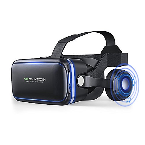 Reflections Cross (VR Headset, Virtual Reality Headset,VR Glasses,VR Goggles -for iPhone 6s/6 +/6/5, Samsung Galaxy, Huawei, Google, Moto & All Android Smartphone With Headphones & Adjustable Eye Care System)