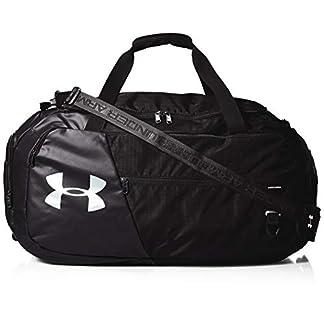 Under Armour Undeniable Duffel 4.0 LG, geräumige Sporttasche, wasserabweisende Umhängetasche Unisex, Schwarz (Black/Black/Silver (001)), Einheitsgröße 13
