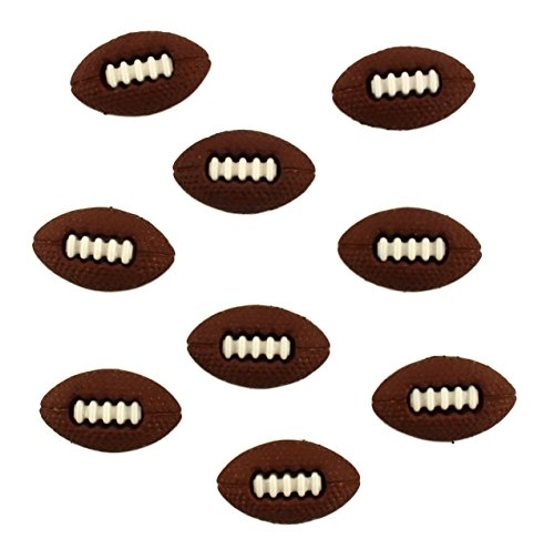 Buttons Galore Craft & Sewing Buttons - Footballs - 3 Packs (27 Buttons)]()