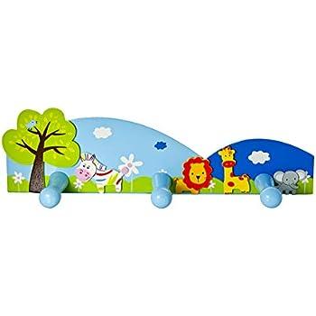 Amazon.com: Elefante de madera ropa de niños rack, soporta ...