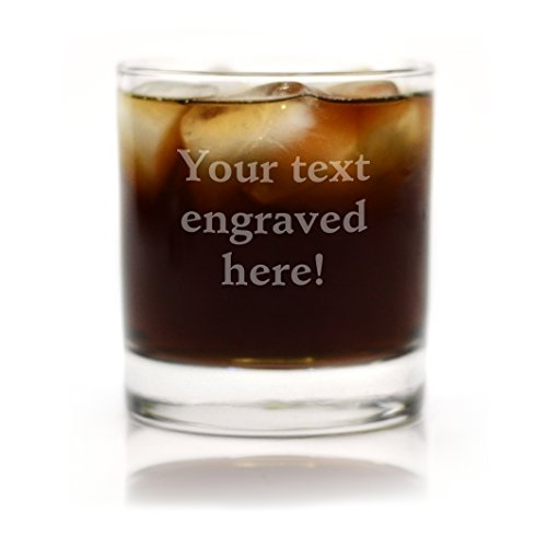 Personalized Rocks Glasses (Personalized Cocktail Glass Engraved with Your Custom)