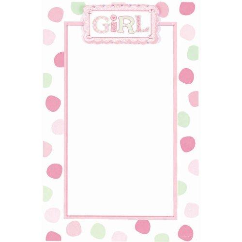- Pink Baby Dot Imprintable Invitations, 12ct