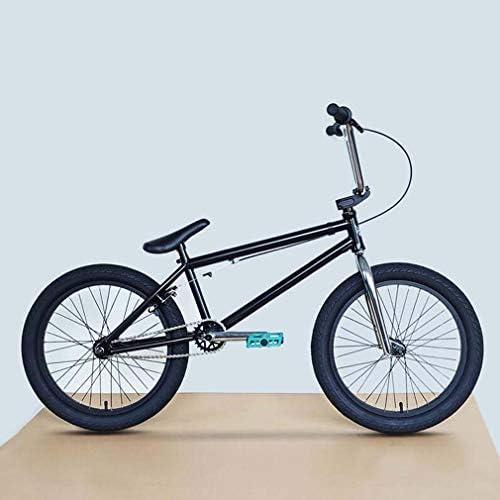 20インチBMXバイク自転車、強度クロムモリブデン鋼フレーム、0.7インチセンターシャフト+ 25Tクランクセット、取り外し可能な取り付けブラケット付きUブレーキ