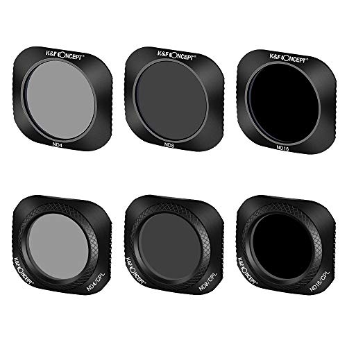 K&F Concept Lens Filter 6-Pack (ND4+ND8+ND16+ND4/CPL+ND8/CPL+ND16/CPL) Compatible for DJI Mavic 2 PRO Lens Made of Ultra High Definition Glass Protecting Valued Lens
