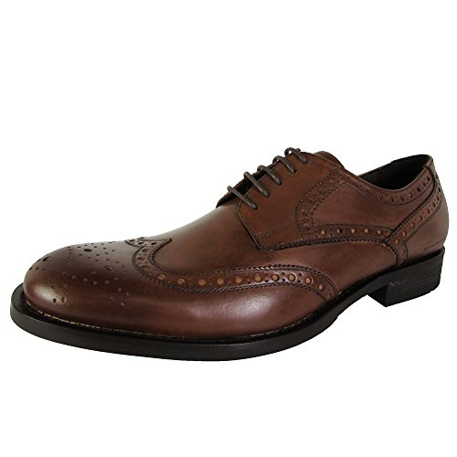 Kenneth Cole New York Mens Mind Ur Step Wingtip Oxford Shoes Cognac