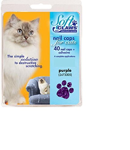 - Feline Soft Claws Cat Nail Caps Take-Home Kit, Small, Purple