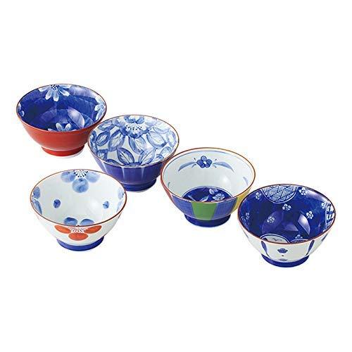SaikaiToki Old Capital Roman Japanese Pattern Rice Bowls (set of 5) 52670
