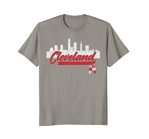 Cleveland Skyline Native American Feather Small Slate (Feather Slate)