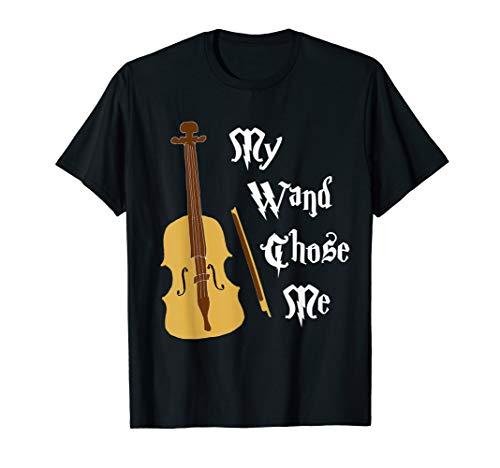Violin My Wand Chose Me Magical Musician Violinist T-Shirt -
