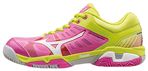 da Scarpe Donna WOS SL White Limepunch Wave AC Rosa Tennis Electric Exceed Mizuno gqXFYn