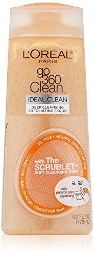 L'Oreal Paris Go 360 Clean, Deep Exfoliating Scrub,Natural Apricot Beads, 6-Fluid Ounce by L'Oreal Paris Skin Care
