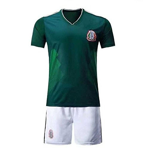 (Sykdybz 2018 Football Wear Mexico Home Adult Children'S Junior Jersey Set Training Team Wear Fans Souvenirs, S)