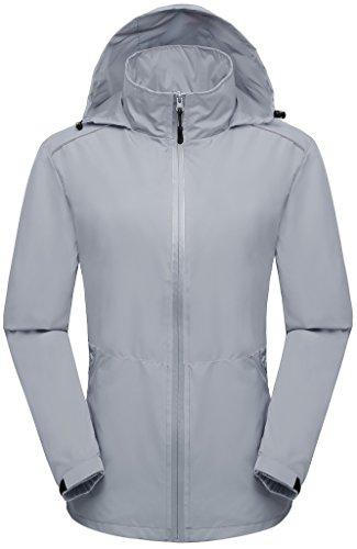 Wantdo Women's Quick Dry Skin Shell Jacket Ultra Lightweight Windbreaker US Small Grey ()