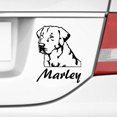 Labrador Nombre Personalizado - Pegatina para coche, diseño de ...
