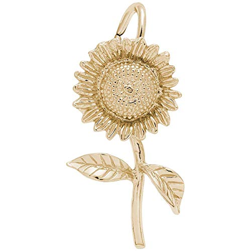 Rembrandt Charms Sunflower Charm, 14K Yellow Gold ()