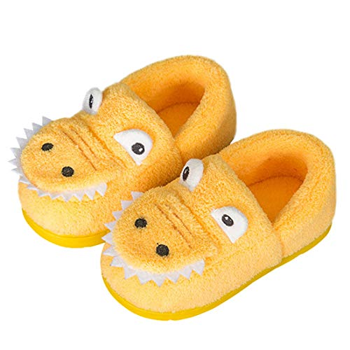 Boys Girls Warm Dinosuar House Slippers Toddler Kids Fuzzy Indoor Bedroom Shoes (7-8 M, ()