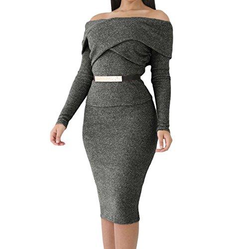 Elakaka Heather Brown Foldover Shoulder Long Sleeve Skirt Set(L) (Dance Costume Company Catalogs)