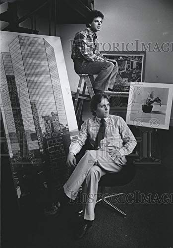 Vintage Photos 1978 Press Photo Michael Lord and Holden Luntz, Directors of Gallery 700.