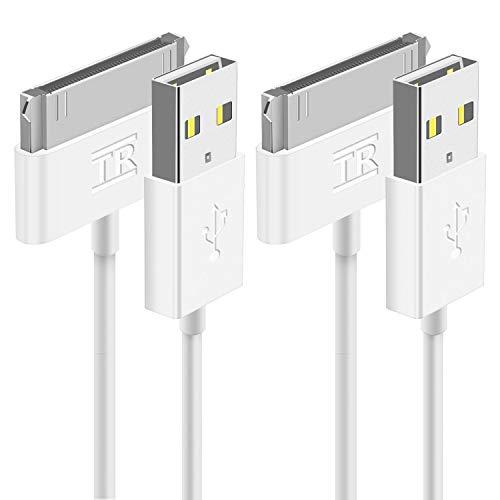TechRise USB Sync and Charging Cable Compatible with iPad 3, iPad 2, iPad 1, iPod, iPhone 4/4S, iPhone 3G/3GS, 1M, 2-Pack