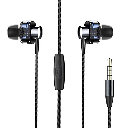 Cehensy Noise Cancelling Headphones Earphones,Wired Earbuds,Dual Dynamic Drivers,Hi-Fi Stereo Bass Headphones with...