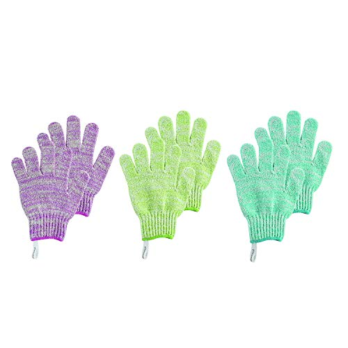 Ecotools Exfoliating bath gloves, colors may vary, 6 Count