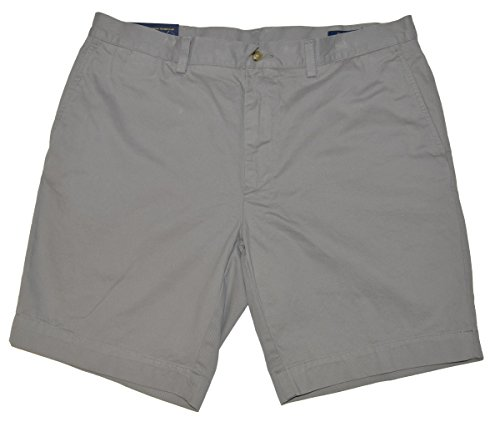 (Polo Ralph Lauren Mens Chino Flat Front Shorts (Soft Grey, 36))