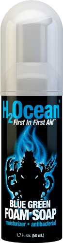 H2Ocean Blue Green Foam Soap, 1.7 Fluid Ounce (Fragrance Free Antibacterial Soap)