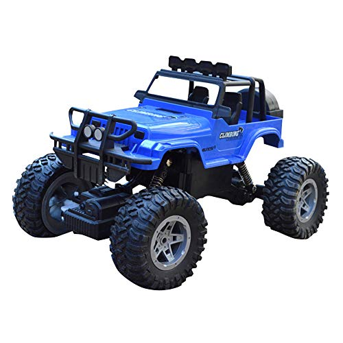 Sikye Remote Control Car,Electric Racing Car Off Road 1:18 Scale 4WD 6V/700mAh High Speed Electric Race Monster Trunk (Blue)