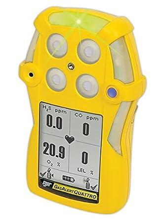 BW Technologies by Honeywell GasAlertQuattro QT-XW00-R-Y-NA 4-Gas Detector