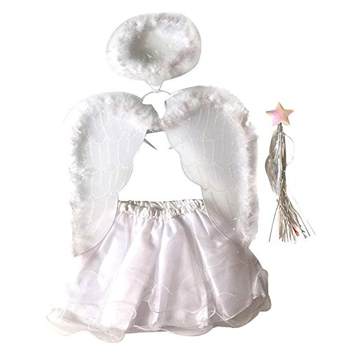 New Party - 2pcs Set Christmas Tree Costumes Headband Wand Tutu Skirt Angle Girls Fairy Dress Outfit Party - Year Angle Pants Stretch Women Girls Size Shoes Bodycon Plus Short Girl Kids Angel Dr