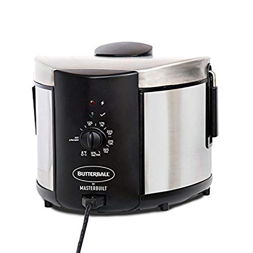Masterbuilt Butterball MB23015018 Electric Fryer, 5 L, Stainless, 5L-Standard