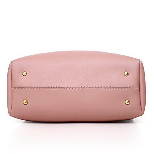 Borse Pink a PU Pezzi Mano 4 Borse Viaggio a Ufficio Moda Set da Pelle Borsa Tracolla Donna Anguang R7qU5TU