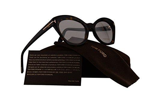 Tom Ford FT5456 Eyeglasses 52-19-140 Dark Havana w/Demo Clear Lens 052 TF5456 FT 5456 TF - Glasses Sale Frames Tom Ford