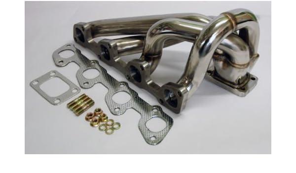 Volvo 240 640 740 2.3L SOHC B230 Turbo conversión colector de escape T3 brida: Amazon.es: Coche y moto