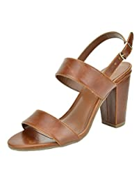TOETOS STELLA-01 New Women's Evening Dress Mid Chunky Heel Open Toe Ankle Strap Stiletto Wedding Pumps Sandals