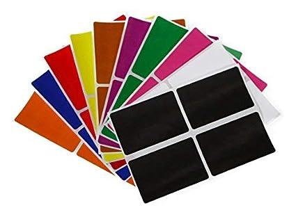 Aufkleber Kraftpapier 75 mm x 50 mm rechteckige Sticker Gr/ö/ße 7,5 cm x 5 cm viereckige Etiketten 200 Vorteilspack von Royal Green
