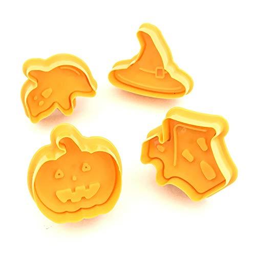 Gessppo 4Pcs Halloween Cake Mold Baking Tool for