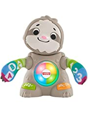Fisher-Price Linkimals Smooth Moves Sloth, clapping baby toy with music, lights, and learning songs for babies and toddlers ages 9 months and up