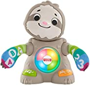 Fisher-Price Linkimals Smooth Moves Sloth, clapping baby toy with music, lights, and learning songs for babies