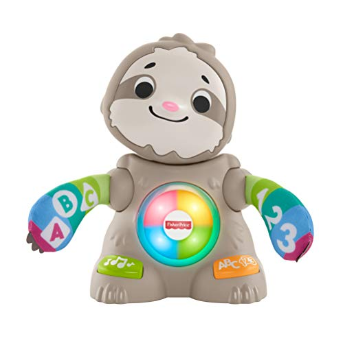 Fisher-Price Linkimals Smooth Moves Sloth - Interactive Educational Toy with Music, Lights, and Motion for Baby Ages 9 Months & Up