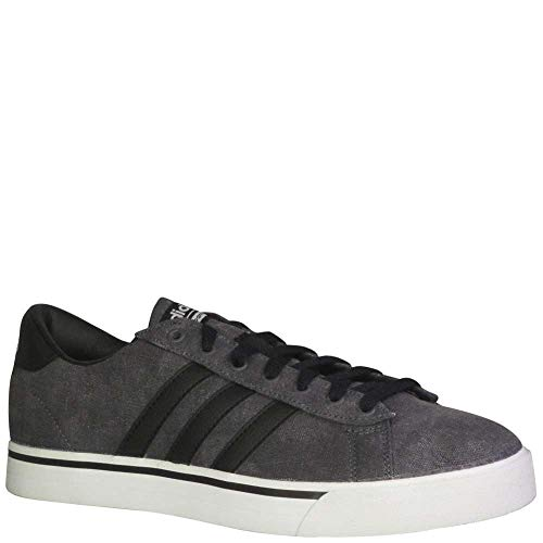adidas Men's Cloudfoam Super Daily Sneakers, Black/Grey/White, (8.5 M (Adidas Mens Slip)
